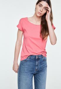 T-shirt uni rose en coton bio - laale