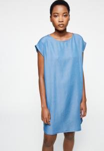 Robe bleue en coton bio - hilaa
