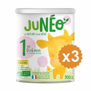 Junéo 1 Lait pour nourrissons x 3 boites