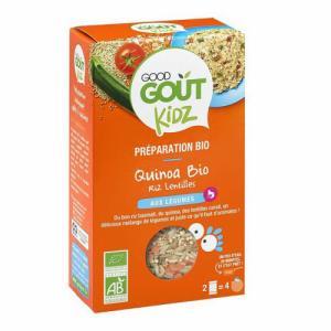 Quinoa riz et lentilles aux légumes