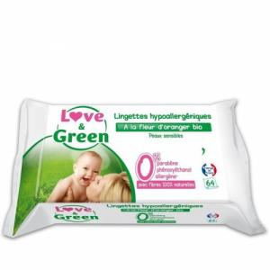 Love - Green Lingettes fleur d'oranger