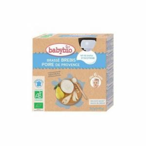 Babybio Brassés de brebis Poire 6m