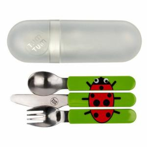 Lot de 3 couverts en inox Ladybird