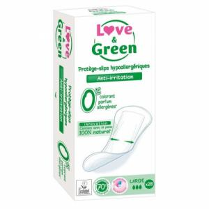 Love - Green - 28 Protège-slips larges