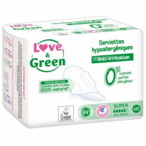 Love - Green - 12 Serviettes super