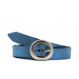 Fine Cuir Métallisé Bleu