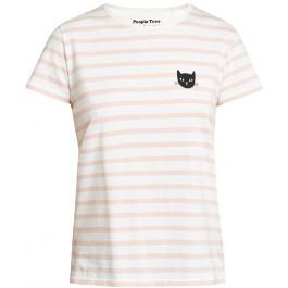 Cat Stripe Pink Eco White