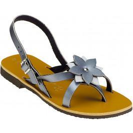 Sandales CEYLAN Bicolore Acier Argent -