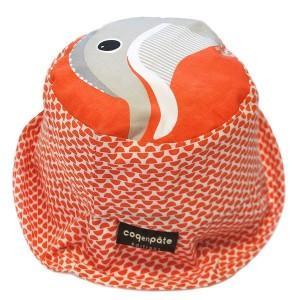 Bob rouge corail coton bio dauphin