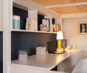 Bureau adulte pour lit mezzanine - Cancún Blanc