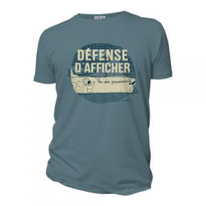 T-shirt bio équitable DOUALA  Défense d'afficher