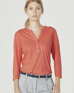 T-shirt femme manches 3-4 en chanvre et coton bio