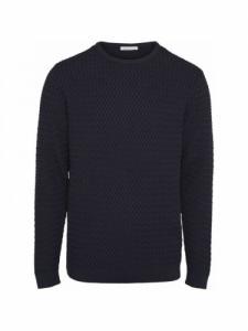 Small diamond Knit - Total Eclipse - Knowledge cotton apparel