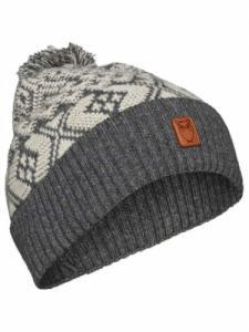Jacquard hat - Dark Grey Melange - Knowledge Cotton Apparel