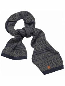 Jacquard Scarf - Total Eclipse - Knowledge Cotton Apparel