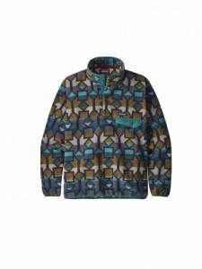 Synch Snap-t Fleece Pullover  - Cedar Mesa Big  New Navy - Patagonia