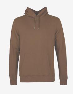 Hoodie marron en coton - sahara camel - Colorful Standard