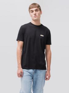 T-shirt noir en coton bio - daniel - Nudie Jeans