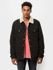 Veste sherpa noire en coton bio - lenny - Nudie Jeans