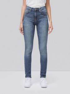 Jean skinny taille haute bleu clair délavé - hightop tilde mid indigo