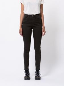 Jean skinny taille haute noir - hightop tilde ever black - Nudie Jeans