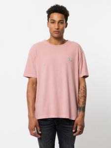 T-shirt rose logo vert en coton bio - uno njco circle