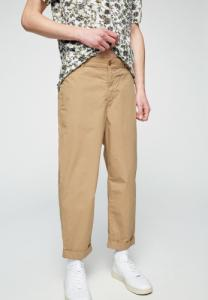 Chino ample beige en coton bio - taadeo