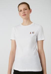 T-shirt blanc en coton bio - lidaa girls
