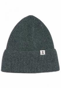Bonnet mélange gris vert en coton bio et laine - maax