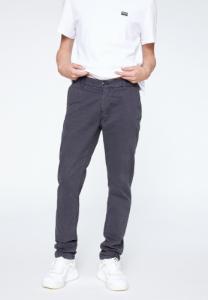 Chino coupe droite noir en coton bio - edvaan