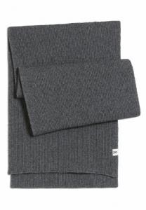 Echarpe grise en coton bio et laine - fredaa