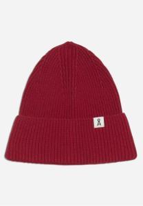 Bonnet rouge en coton bio et laine - maax
