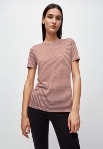 T-shirt rayures lila et marron en coton bio - lidaa
