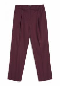Pantalon à pinces bordeaux en coton bio - herttaa