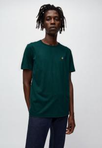 T-shirt vert foncé en coton bio - paul ping pong - Armedangels