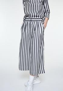 Pantalon rayé noir en tencel - jonnaa big stripes