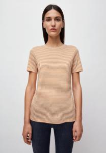 T-shirt rayures ocre en coton bio - lidaa