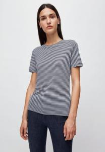 T-shirt rayures bleu marine en coton bio - lidaa