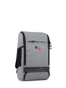 Sac à dos gris et noir en plastique recyclé - cubik medium - pinqponq