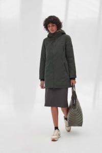 Manteau long vert en polyester recyclé - livorno