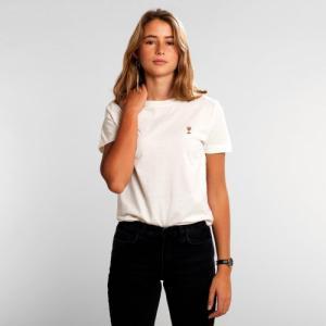 T-shirt blanc motif en coton bio - wine glass - Dedicated