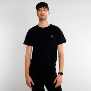 T-shirt noir motif brodé - back scratch - Dedicated
