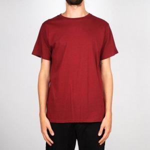 T-shirt bordeaux en coton bio - stockholm - Dedicated