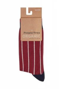 Chaussettes à rayures en coton bio - pinstripe
