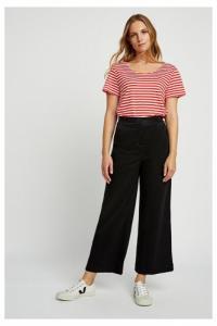 Pantalon large noir en coton bio et tencel - bella - People Tree