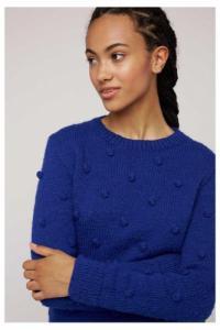 Pull bleu en laine - gigi