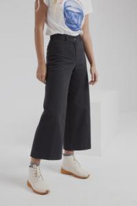Pantalon large noir en coton bio - elephant
