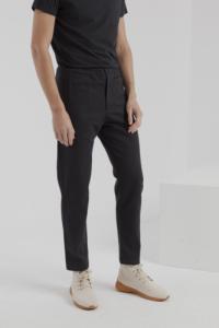 Pantalon noir twill en coton bio