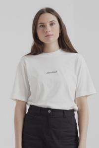 T-shirt blanc en coton bio - stardust