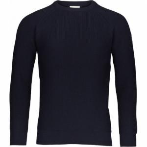 Pull bleu marine en coton et laine bio - rib o neck
